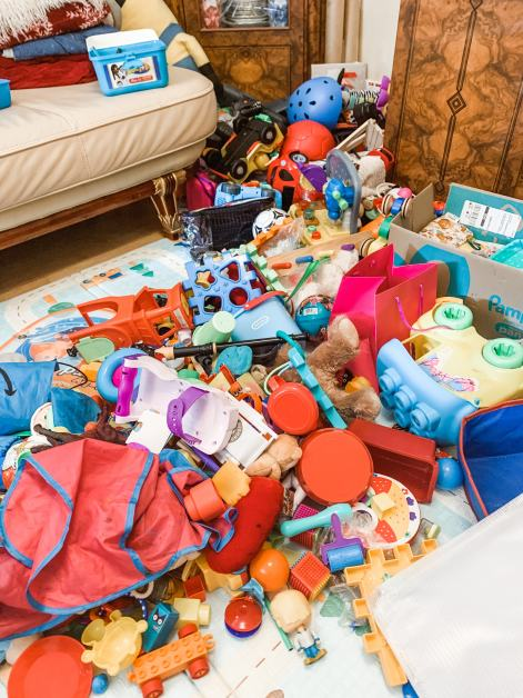 toys all over the floor