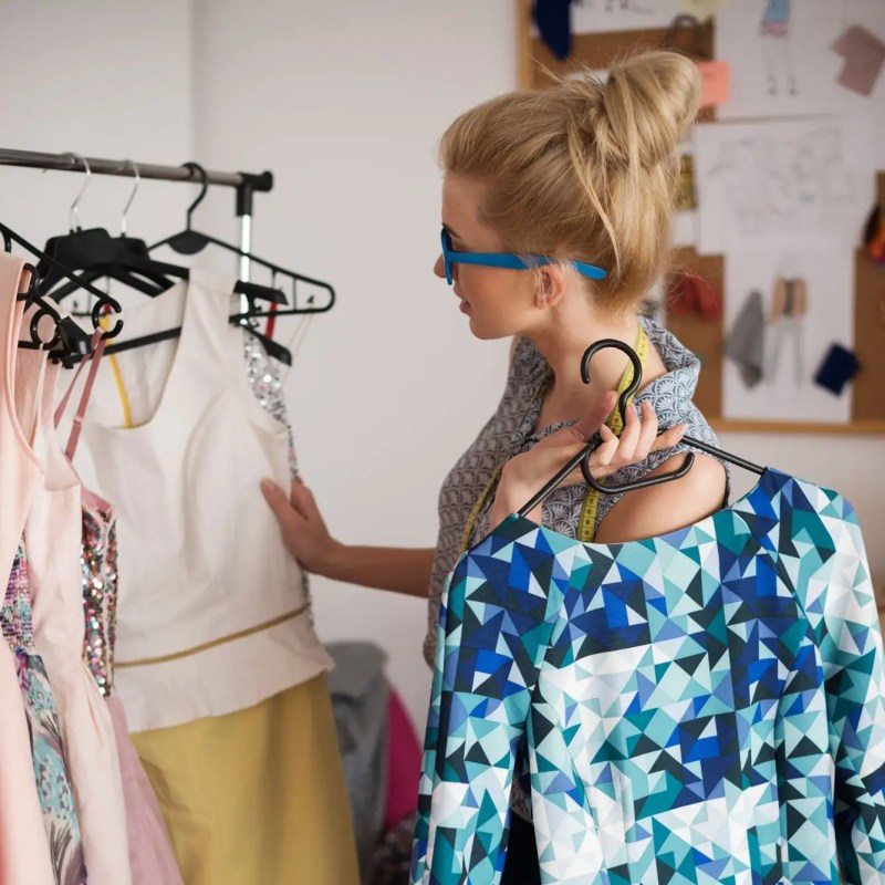 Fashion stylist at the work