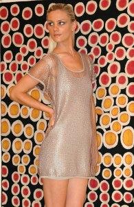 Mermaid over-sized mesh tee rrp $193.60; Shimmer Tank dress  rrp $151.80