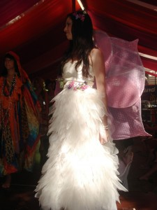 Katie Clarke and Damara Graham\'s combined entry in the 2008 Wearable Art competition, Eumundi Markets