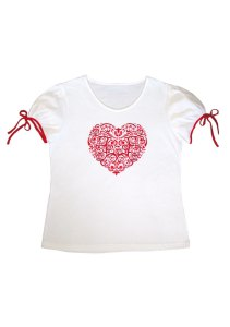 Luisa Clare Enchanted Heart tee $129