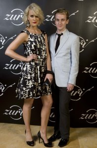 Katherine Feeney (aka CityKat) and Shannon Molloy at the opening of Zuri nightclub in the Valley, Brisbane