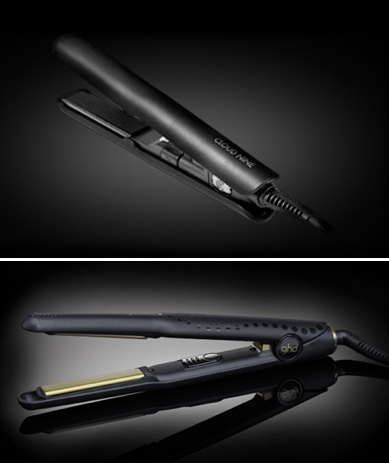 Above:  Cloud Nine Micro; below:  ghd Gold Mini
