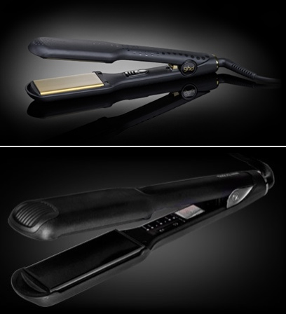 Above: ghd Gold Max Styler; below:  Cloud Nine Wide Iron