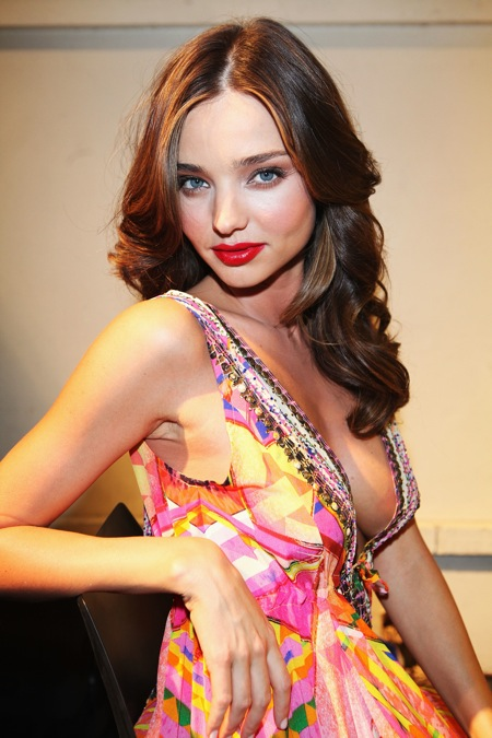 Miranda Kerr's Napoleon Perdis red lip for David Jones