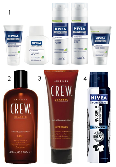 manland products August - American Crew and Nivea for Men