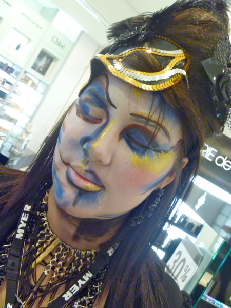 Brisbane Illamasqua counter manager Tiarah embraces the new Theatre of the Nameless collection