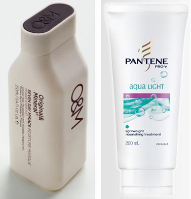 O&M Seven Day Miracle and Pantene Aqua Light Lightweight nourishing treatment