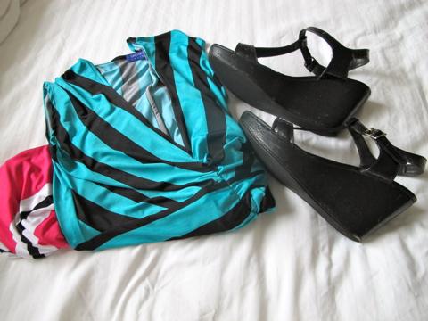 Sacha Drake maxi dress | Country Road platforms
