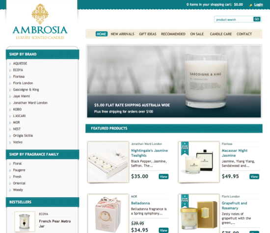Ambrosia Luxury Scented Candles