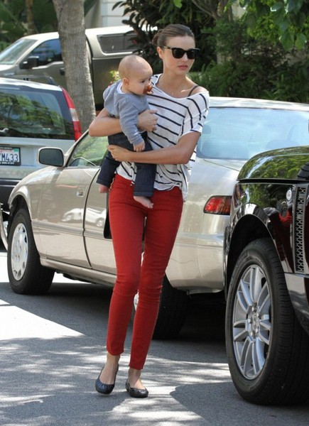 I'm going to do the red denim look ... just like Miranda Kerr ... only very different