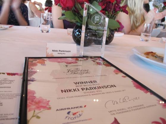 Sydney Opera House; Jasmine Awards; Fragrance Foundation; Nikki Parkinson