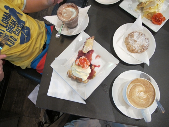 Afternoon tea at The Silva Spoon in Cotton Tree got the thumbs up from Mr Styling You and Mr Almost 7