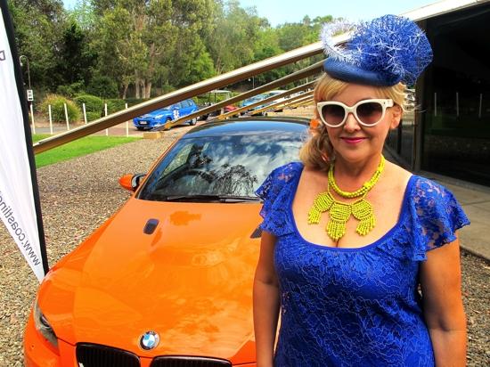 Model and Me: Sacha Drake spring 2012 #cobalt #chartreuse