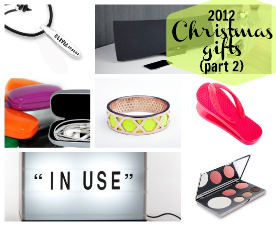 2012 fave Christmas gift suggestions