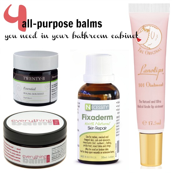 4 all-purpose balms you need in your bathroom cabinet