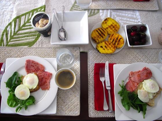 Christmas 2012 breakfast australia mangoes