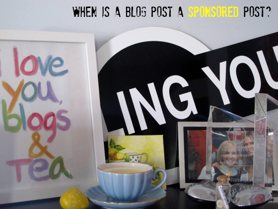 When is a blog post a sponsored post?