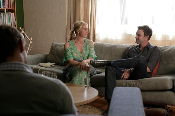 Nina Proudman (Asher Keddie) and Patrick Reid (Matthew Le Nevez)