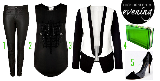 How to wear the monochrome trend - evening