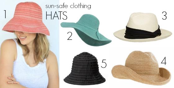 sun-safe clothing - hats