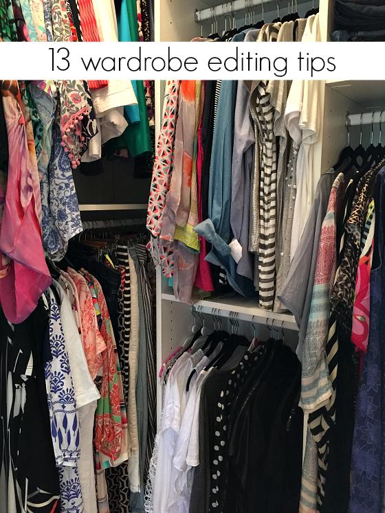13 Wardrobe Editing tips