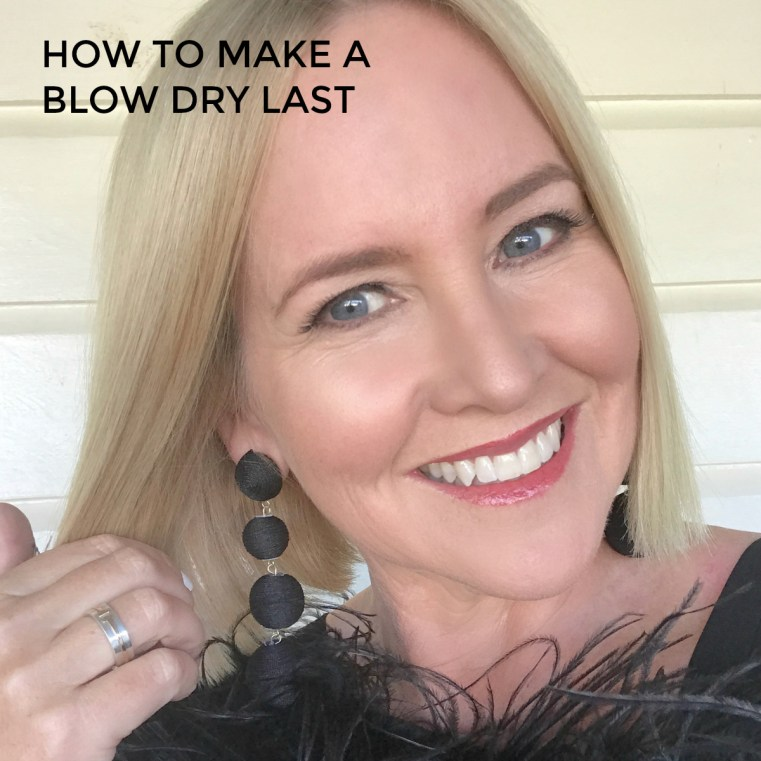 How to make a blow dry last