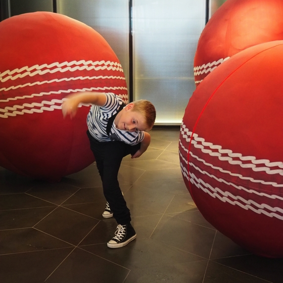 Crown Metropol Melbourne | Lobby | World Cup Cricket finals | giant balls