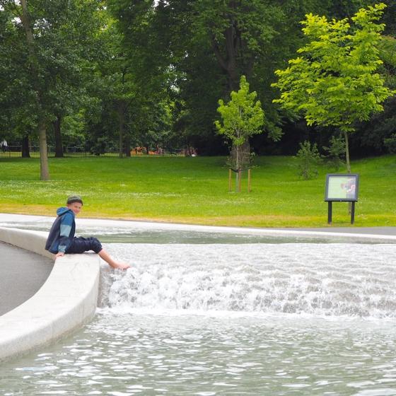 Princess Diana Memorial fountain, Hyde Park, London