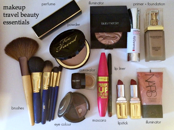 makeup travel beauty essentials
