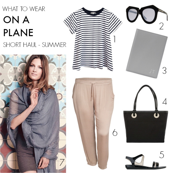 What to wear on a plane - short haul - summer | 11 tips for what to wear on a plane