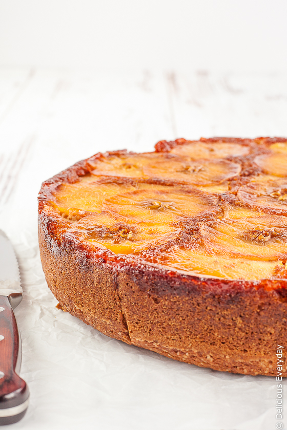 Caramel Apple Upside Down Cake Recipe | Click for the recipe