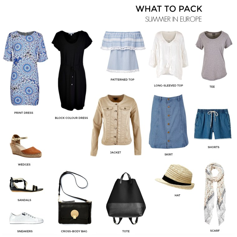 What to pack for SUMMER in Europe | Travel capsule wardrobe | Styling You