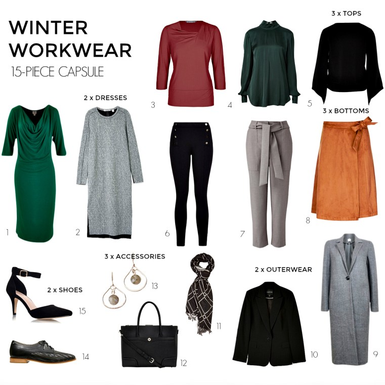How to create a winter workwear 15-piece capsule wardrobe