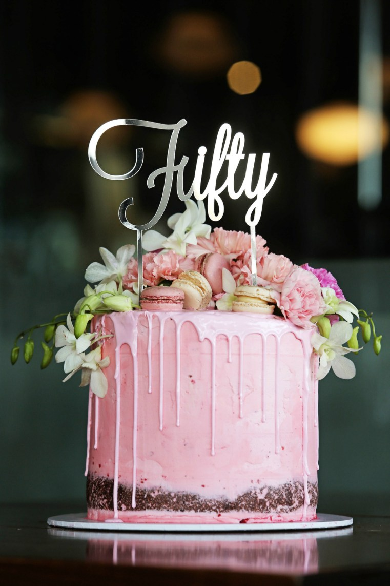 Flour and Bell Bakery cake | Styling You | Nikki Parkinson 50th birthday