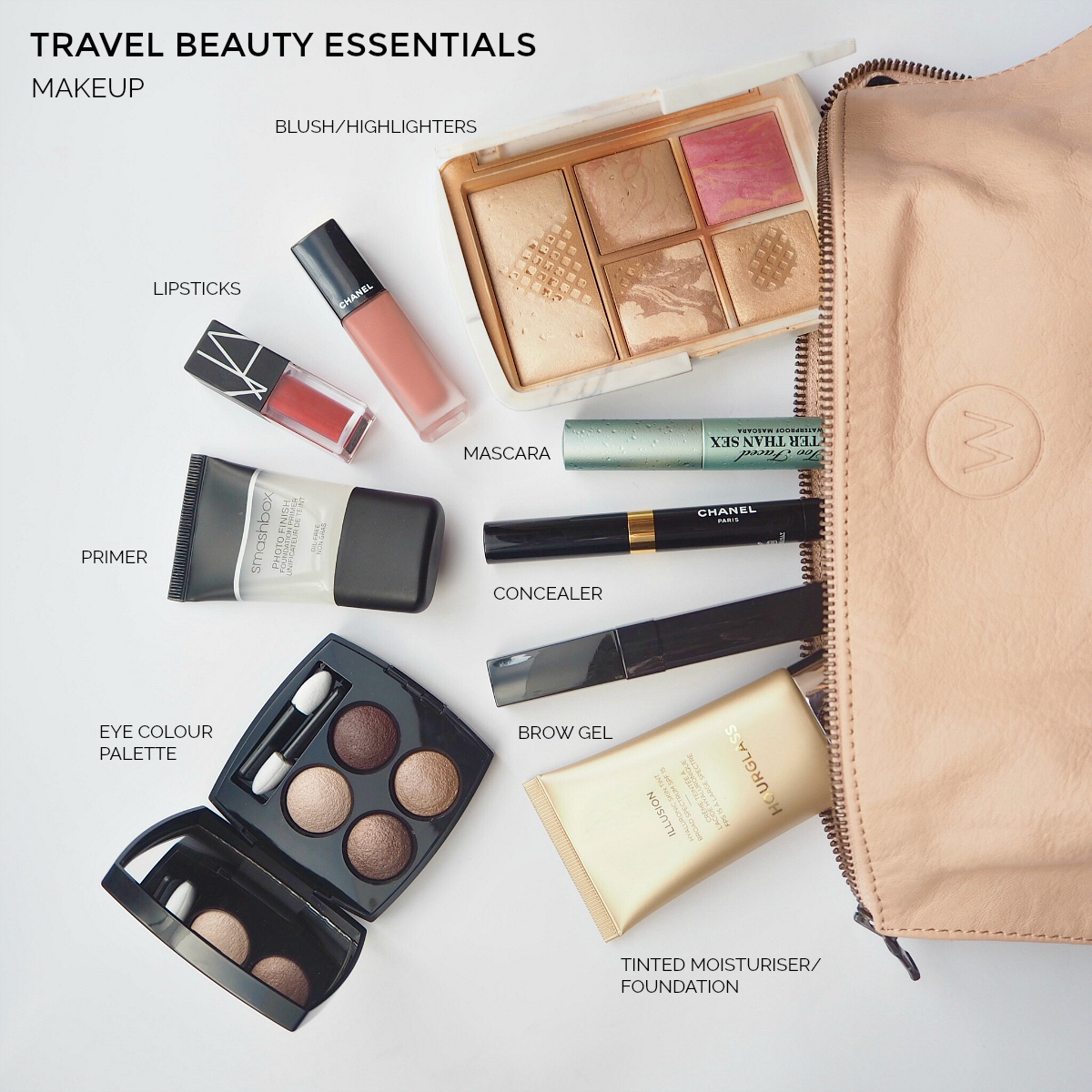 Travel beauty essentials: makeup   Styling You