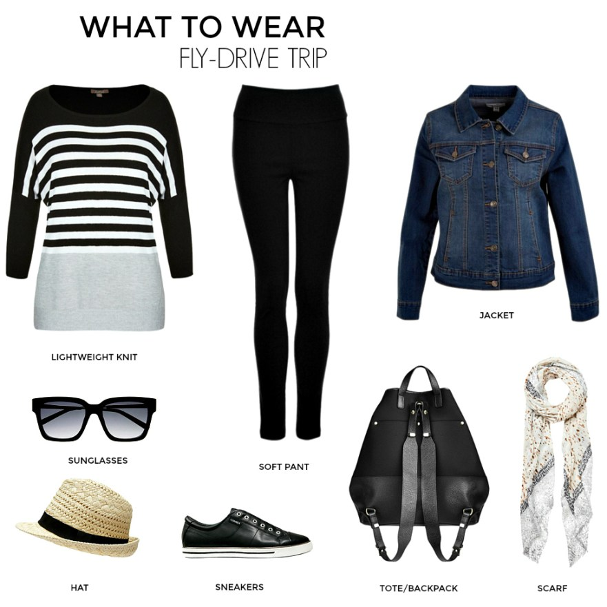 What to wear on a fly-drive trip | Styling You | Travel Capsule