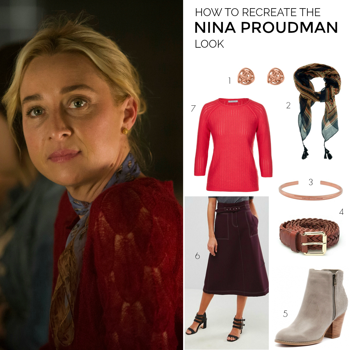How to recreate the Nina Proudman look | Offspring Season 7; Episode 9