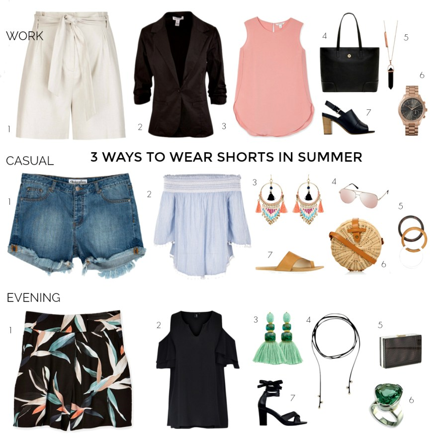 3 ways to wear shorts this summer: work, casual and evening
