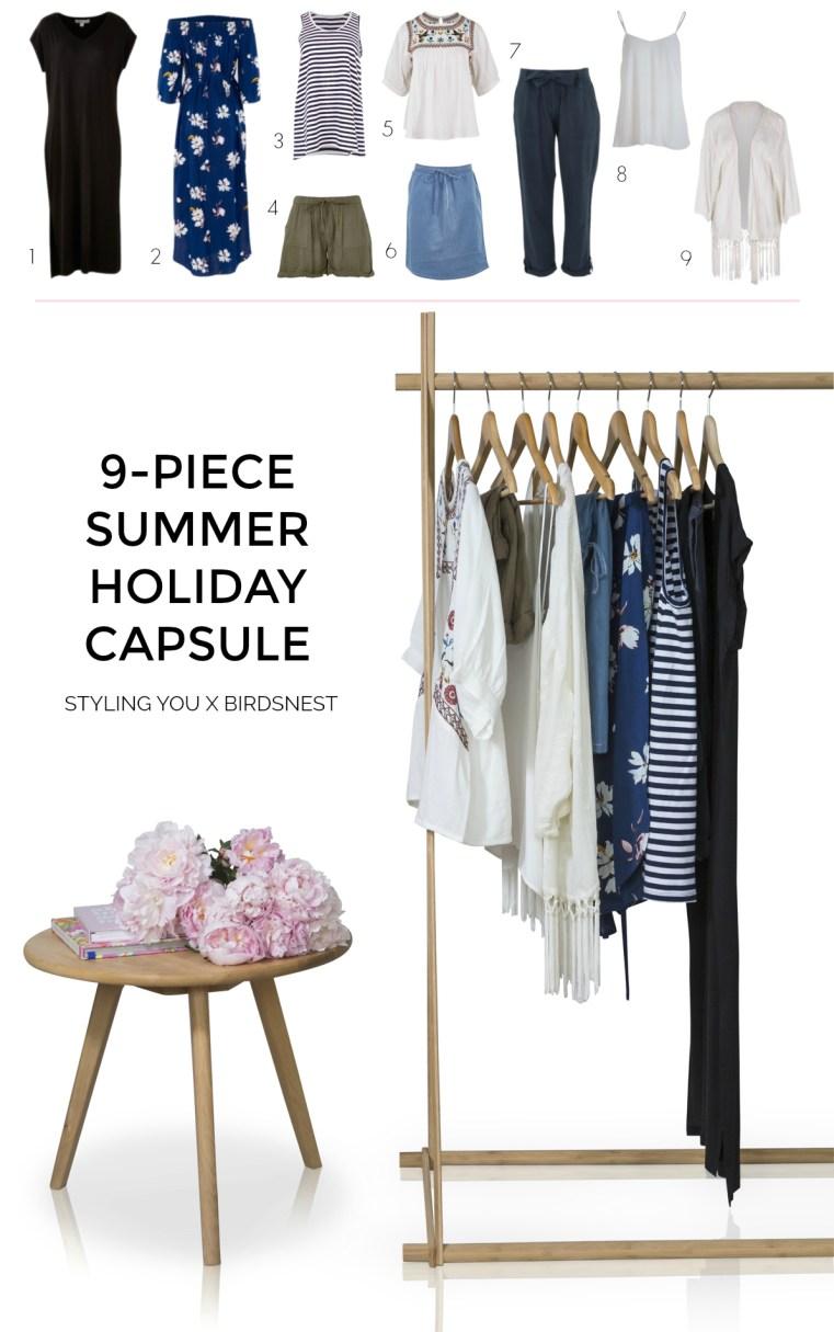 Styling You X Birdsnest 9-piece summer holiday capsule wardrobe