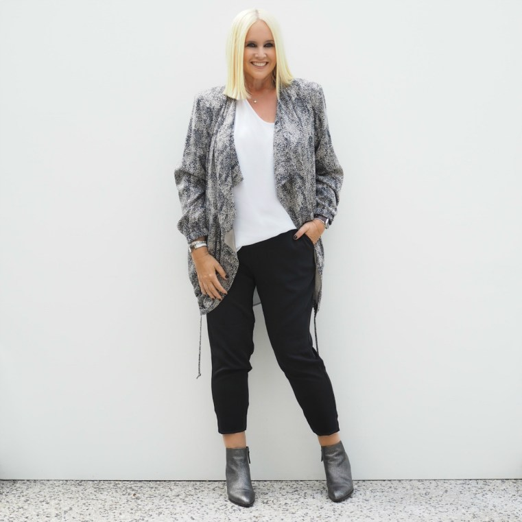 Harlow Australia top, jacket and pant | Uberkate Flawed necklace | FRANKiE4 Footwear BRiDGET boot