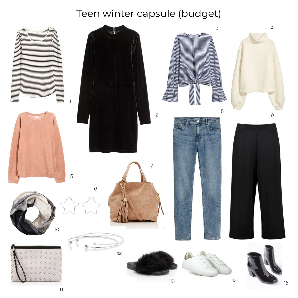 How to create a teenager winter capsule wardrobe on a budget