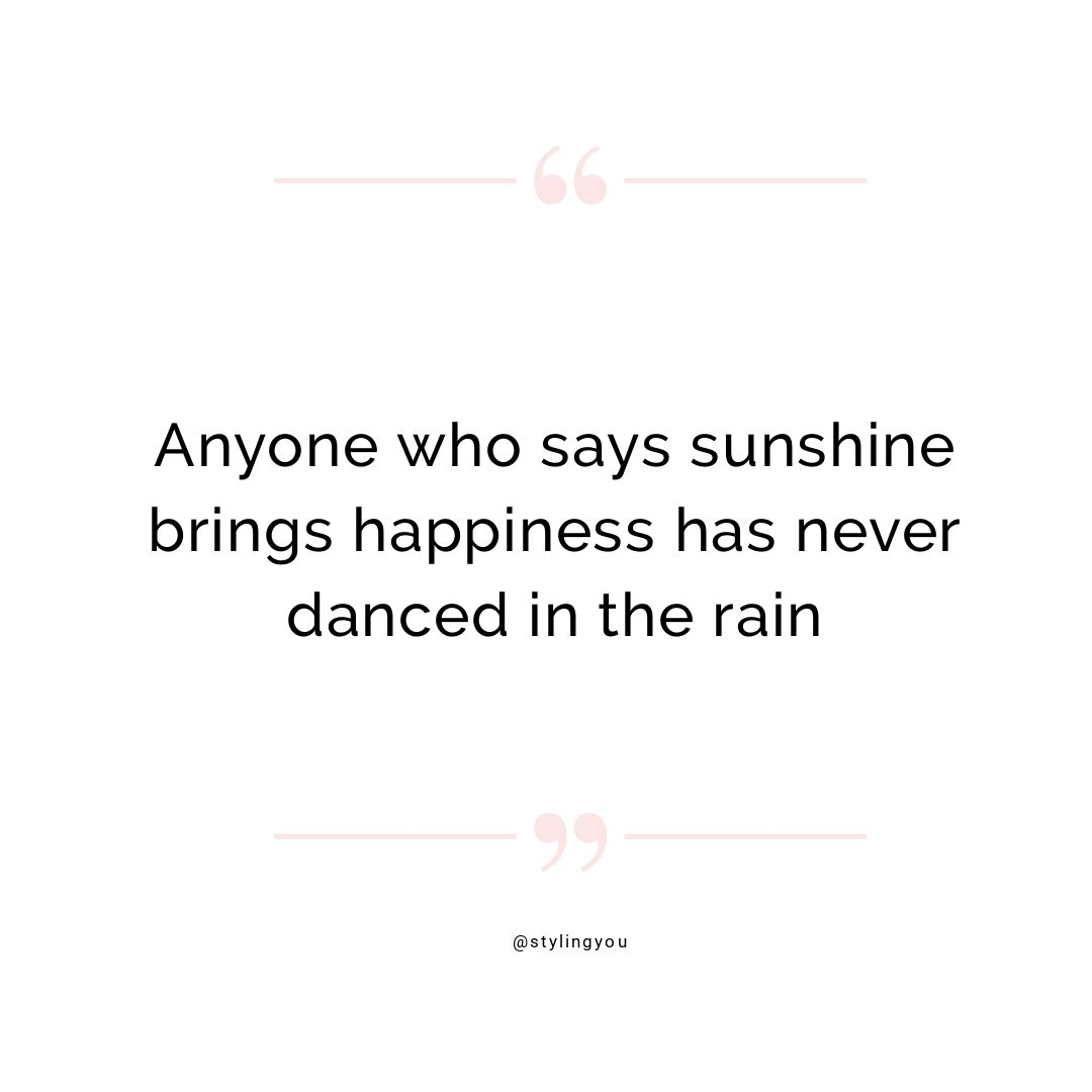 Anyone who says sunshine brings happiness has never danced in the rain | shop online with businesses based in drought-affected areas