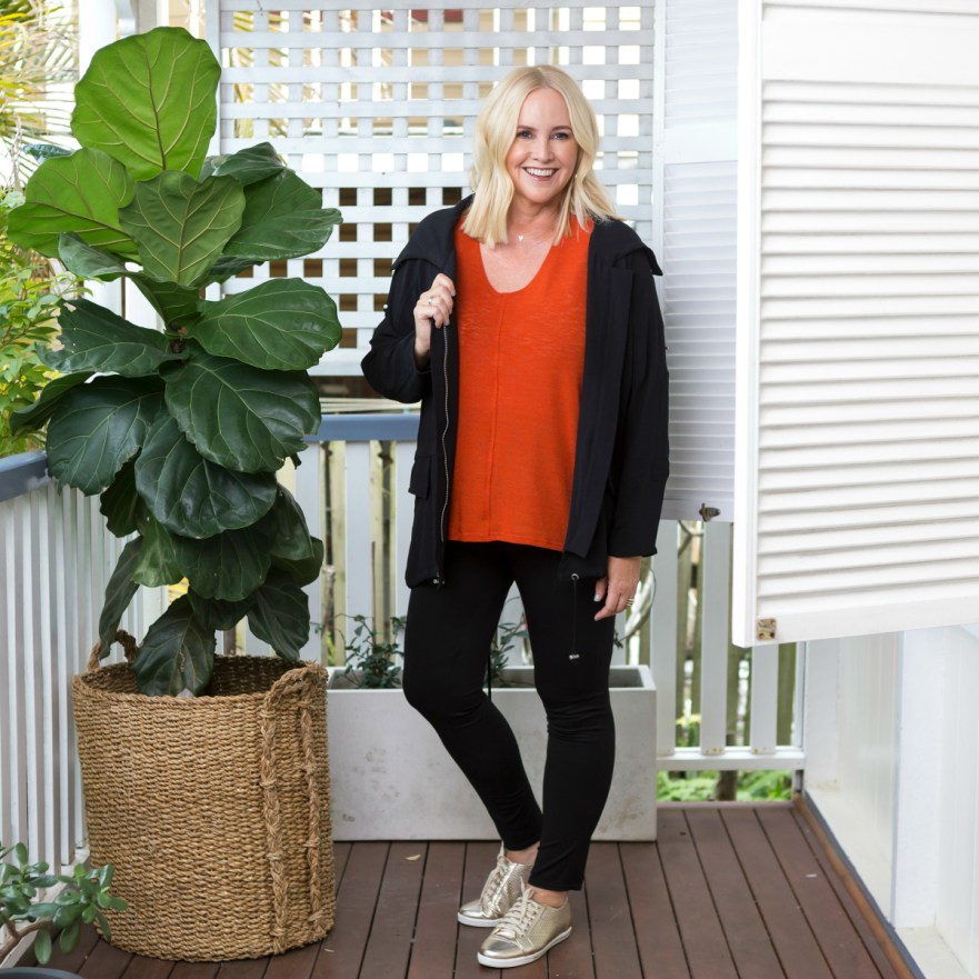 Motto Summer Miracle pant | Motto Rust Sierra slouch top | Black Nano Leisure jacket