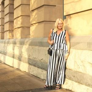 Bohemian Traders pants and top | FRANKiE4 Footwear LiSA heels in black