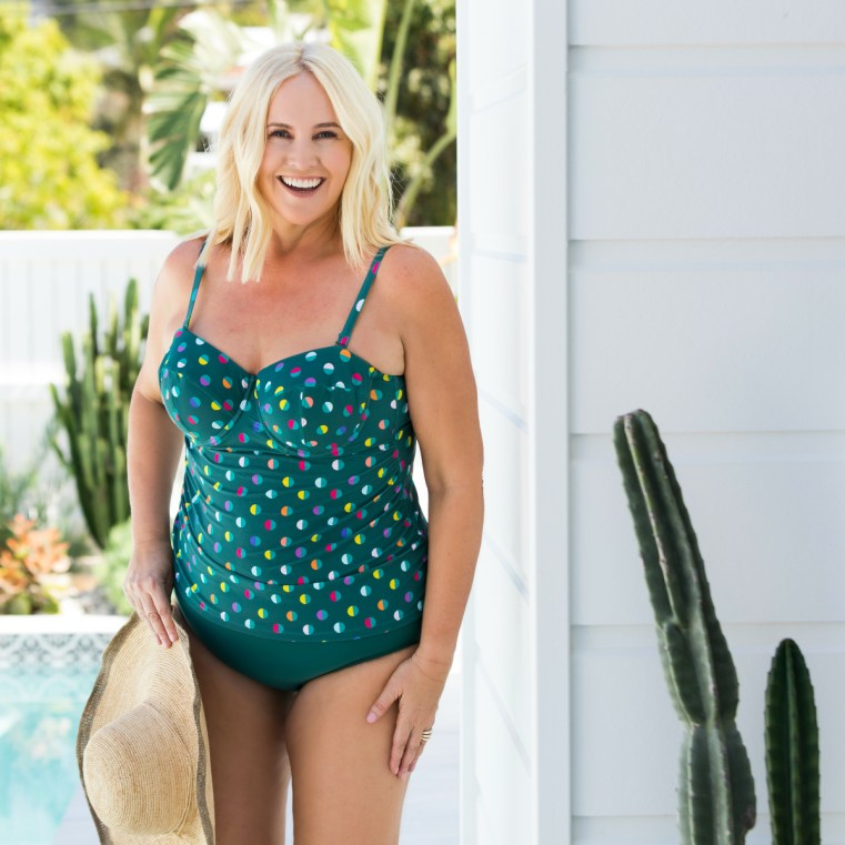 Lilly & Lime Spot Forest Tankini | Forest Green full brief