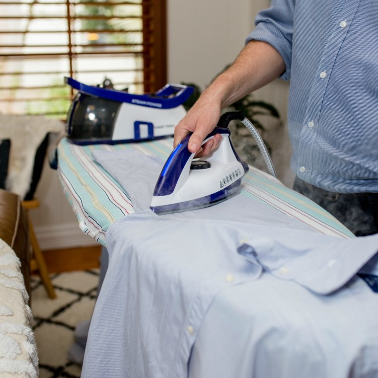Russell Hobbs Steam Power Steam Station | Husband ironing tips
