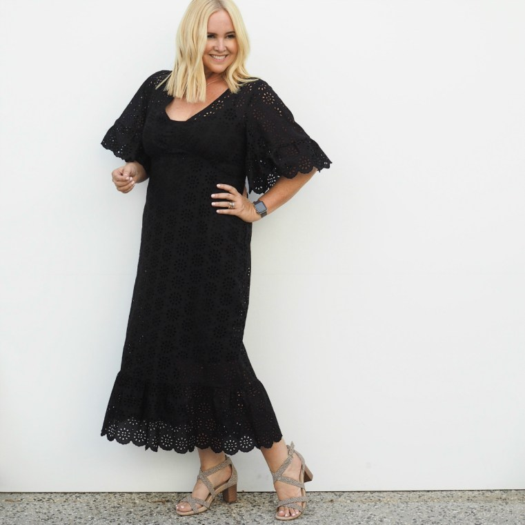 Harlow maxi dress | FRANKiE4 Footwear AMiE heels in leopard