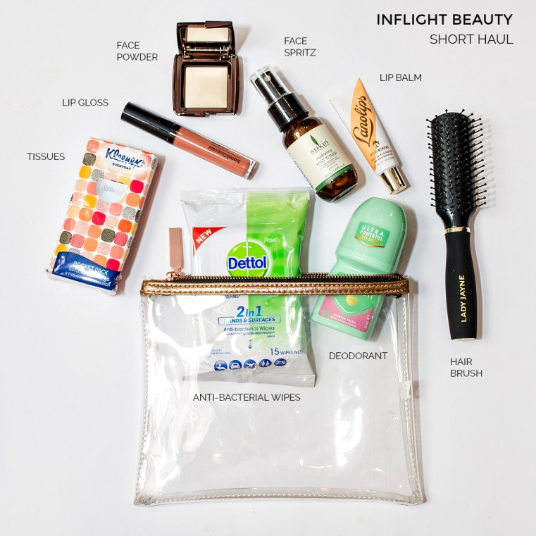 Inflight beauty essentials - short haul | Inflight and travel beauty essentials Brisbane Airport