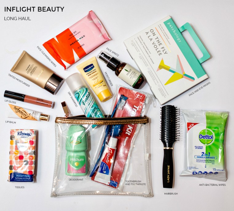 Inflight beauty - long haul | Inflight and travel beauty essentials Brisbane Airport